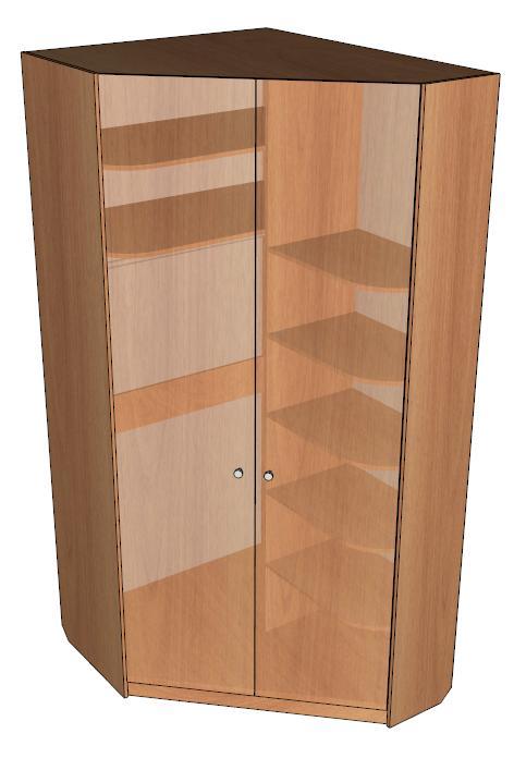 Шкаф угловой с распашными дверями массив: мебель в кургане в.